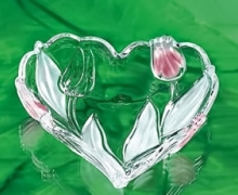 NADINE ваза-сердце 240 мм  розовое