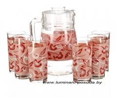 PLENITUDE RED стаканы + кувшин