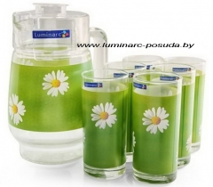 PAQUERETTE GREEN стаканы + кувшин