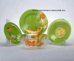 POP FLOWERS GREEN 19 предметов с салатником
