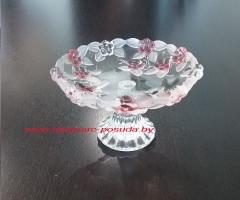 CARMEN ROSE блюдо на ножке розовое 160 мм