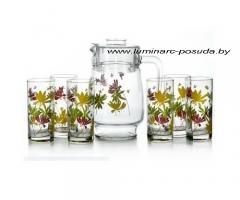 CRAZY FLOWERS стаканы + кувшин